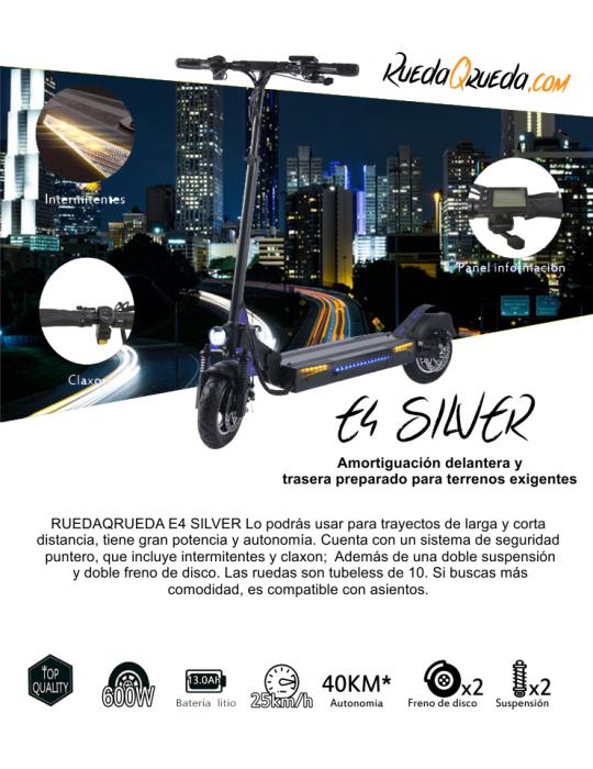 RuedaQRueda E4 Silver 600W