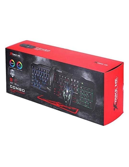 Kit teclado + raton + auriculares + alfombrilla gaming xtrike me cm – 404
