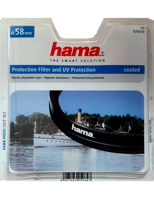 Filtro Protector con protencion UV 58mm - Camaras Foto - Hama